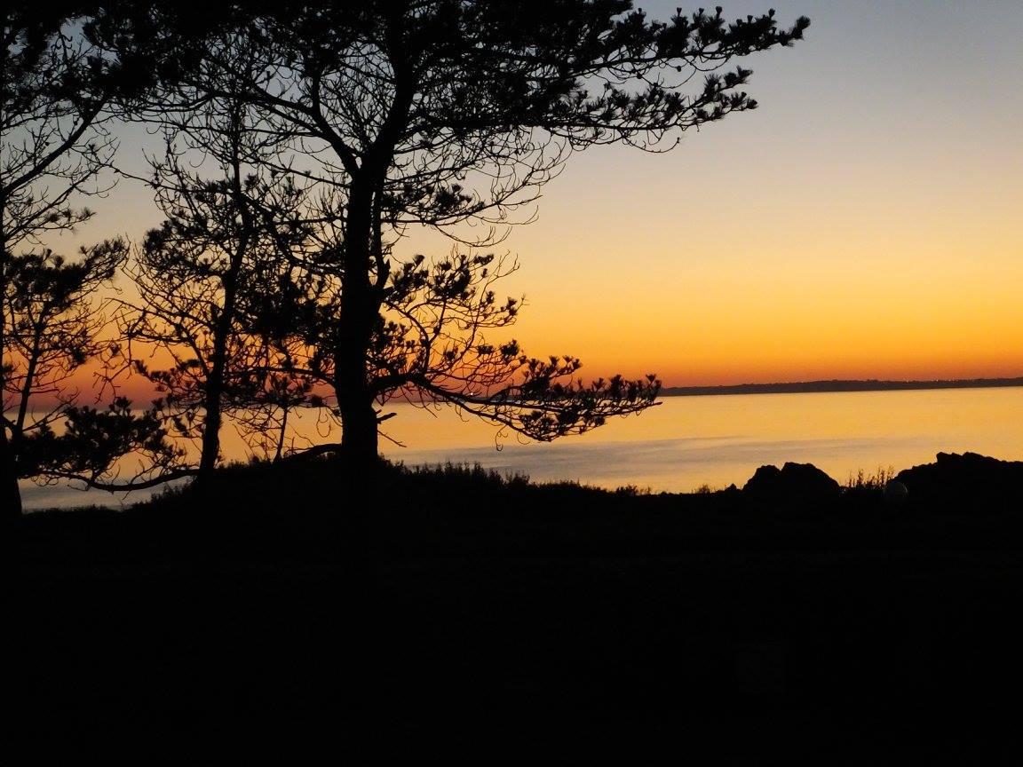 coucher de soleil depuis le camping de Trez Rouz