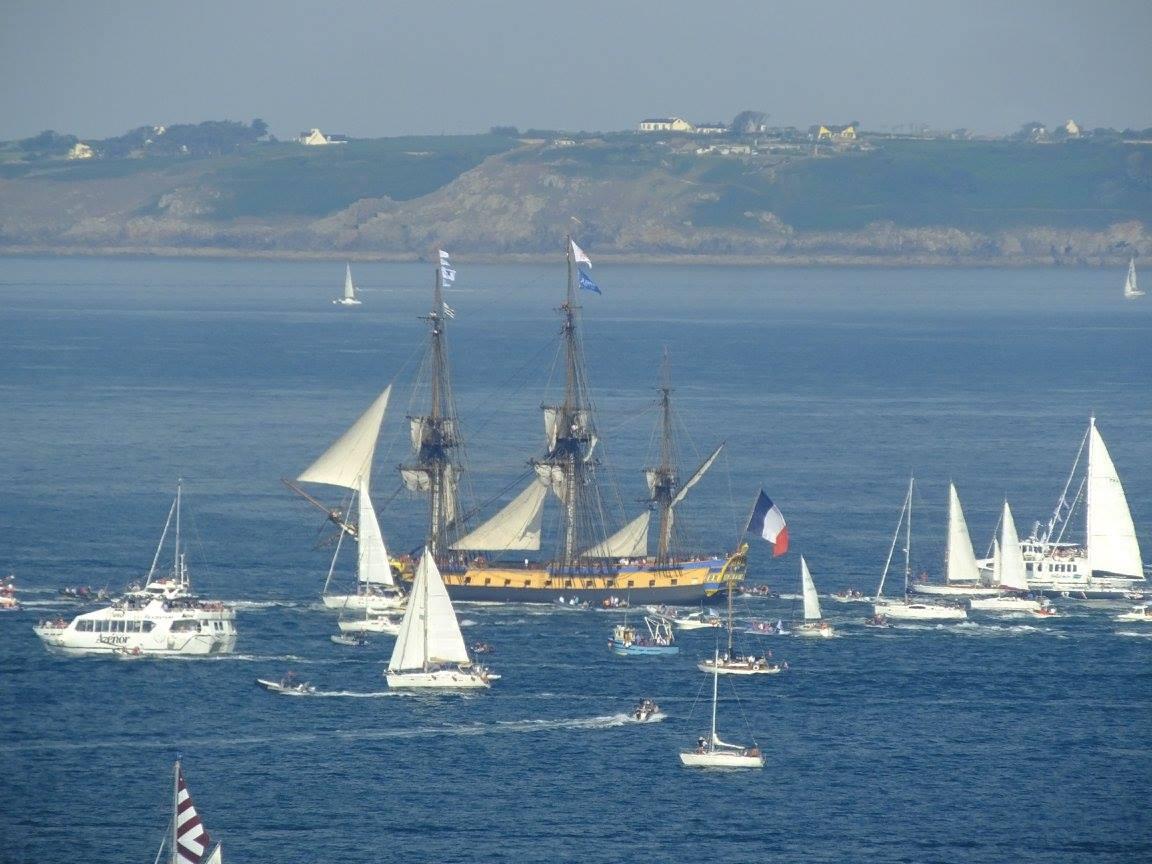 parade maritime Douarnenez hermione