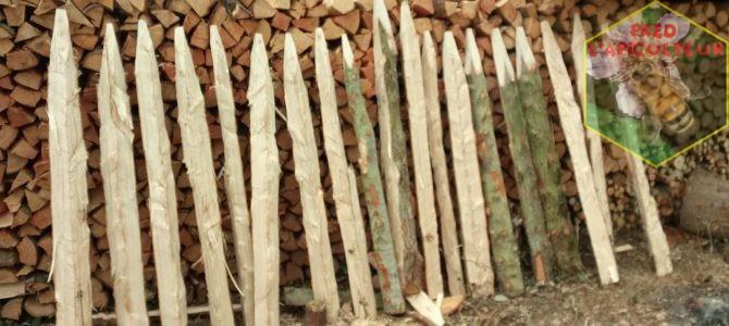 Fabrication de piquets en Thuya