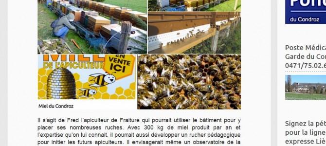 Quelle affectation pour l'ancien château d'eau de Soheit-Tinlot ? Une nouvelle antenne du Syndicat d'Initiative ou … un rucher?