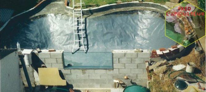 Il y a presque 20 ans…construction du bassin à carpes koï!